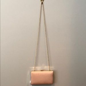Charming Charlie blush pink clutch
